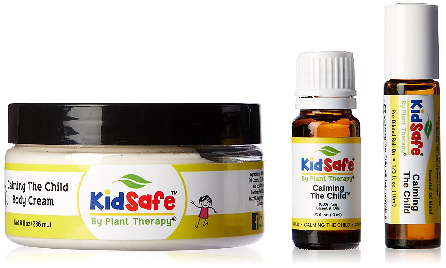 Plant Therapy Calming the Child Set. Made from 100% Pure, Undiluted, Therapeutic Grade Essential Oils. Plant Therapy Inc