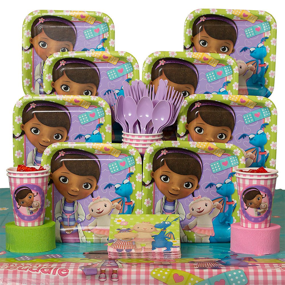Amazon.com Doc McStuffins Party Kit Including Plates Cups Tablecover and Napkins - 8 Guests by Hallmark Toys u0026 Games & Amazon.com: Doc McStuffins Party Kit Including Plates Cups ...