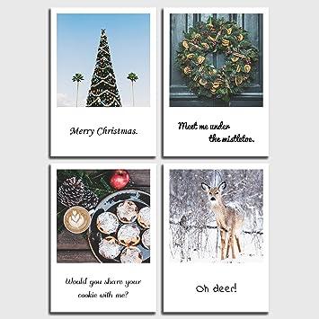 Witzige Weihnachtssprüche Für Karten.Postkarten Set Weihnachten 4 Witzige Weihnachts Sprüche Im Retro