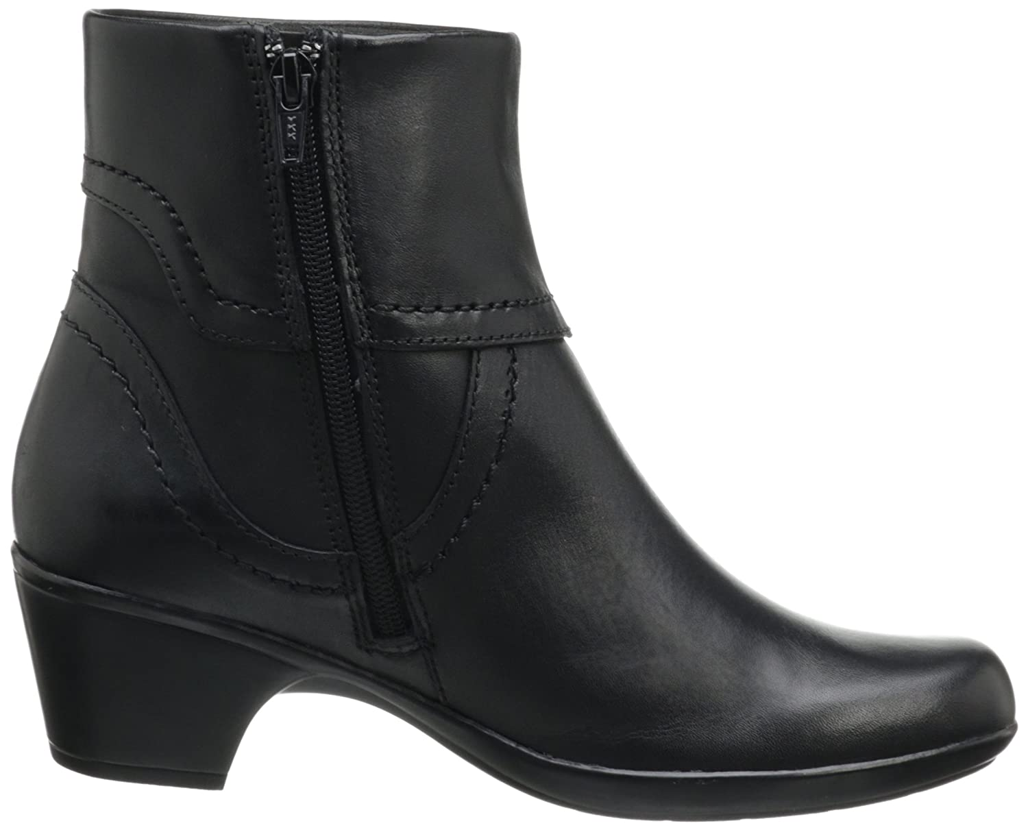 Amazon.com | CLARKS Women's Ingalls Tweed Bootie, Black Leather, 10 M US |  Ankle & Bootie