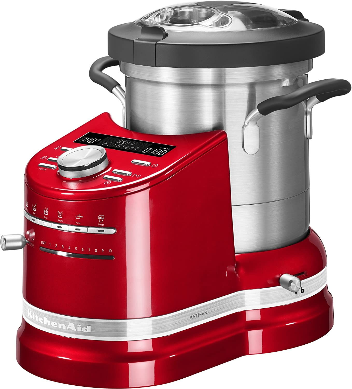 KitchenAid 5KCF0103ECA/6 - Robot de cocina (Rojo, 10,14 kg, 31,4 cm, 34,2 cm, Acero inoxidable, Metal): Amazon.es: Hogar
