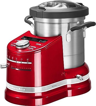 KitchenAid 5KCF0103EER 4,5 L Rojo 1500 W - Robots de cocina (4,5 L, 140 °C, 100 RPM, 2300 RPM, Boil, Freír, Puréeand dough, Vapor, Stew, 45 min): Amazon.es: Hogar