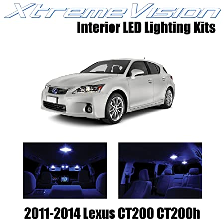 img buy XtremeVision Interior LED for Lexus CT200h CT200 2011-2014 (8 Pieces) Blue Interior LED Kit + Installation Tool