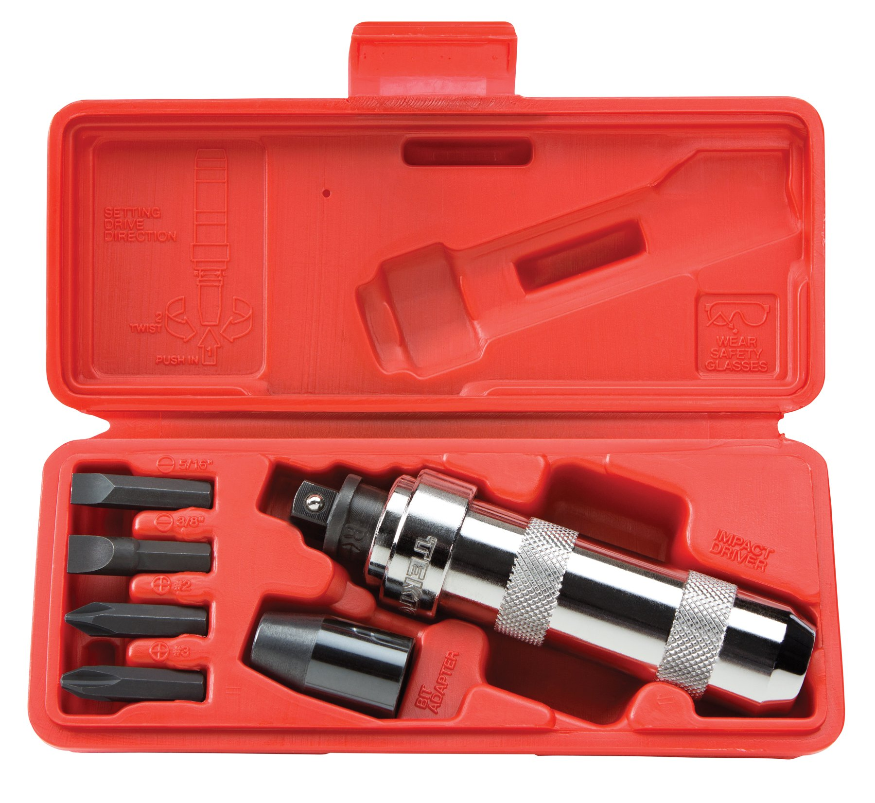 TEKTON 2905 3/8-Inch Drive Manual Hand Impact Driver Set, 7-Piece