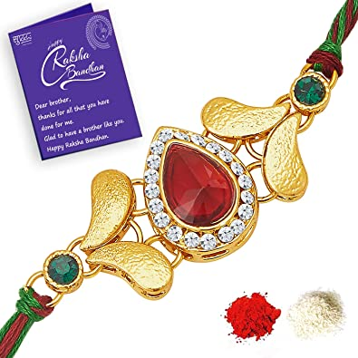 Sukkhi astonish rakhi with roli chawal and raksha bandhan greeting sukkhi astonish rakhi with roli chawal and raksha bandhan greeting card for men m4hsunfo
