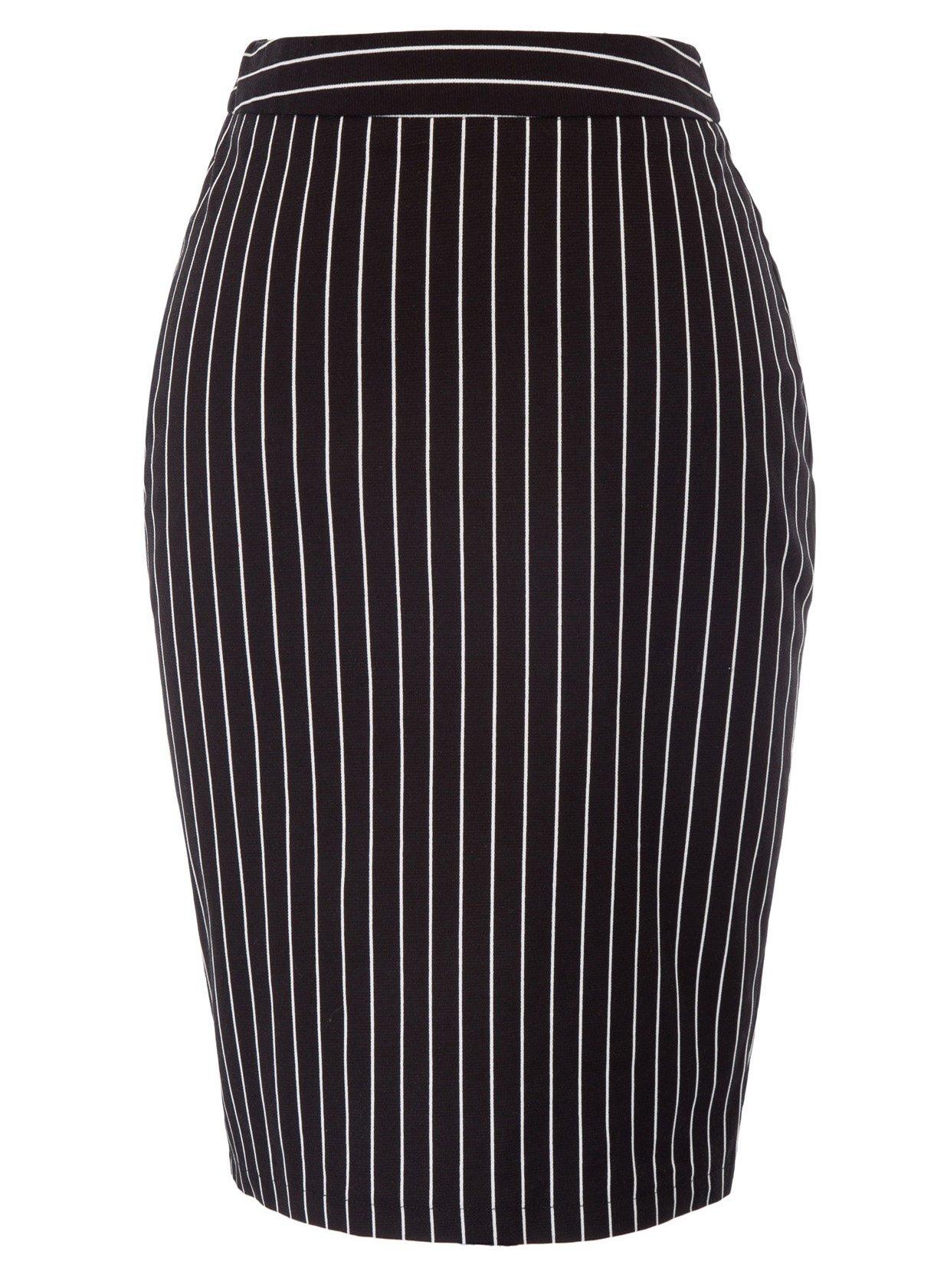 Kate Kasin Womens Soft Pencil Skirt Cotton Slim Fit Business Skirt Size L