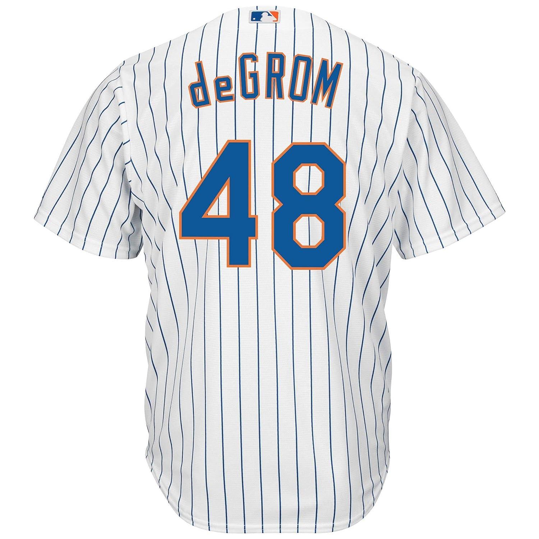 san francisco ec70a e513b Amazon.com: Jacob deGrom New York Mets White Youth Cool Base ...