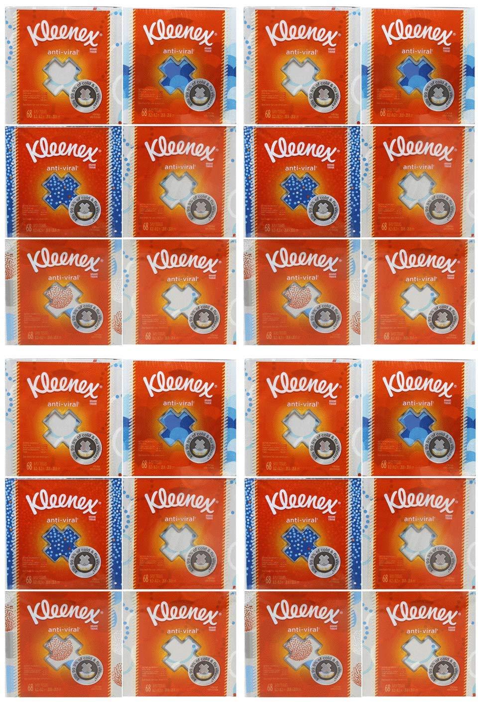 Kimberly-Clark Professional asdaUIK Kleenex Anti-Viral Facial Tissue Cube 24 Pack by Kimberely-Clark Professional (Image #1)