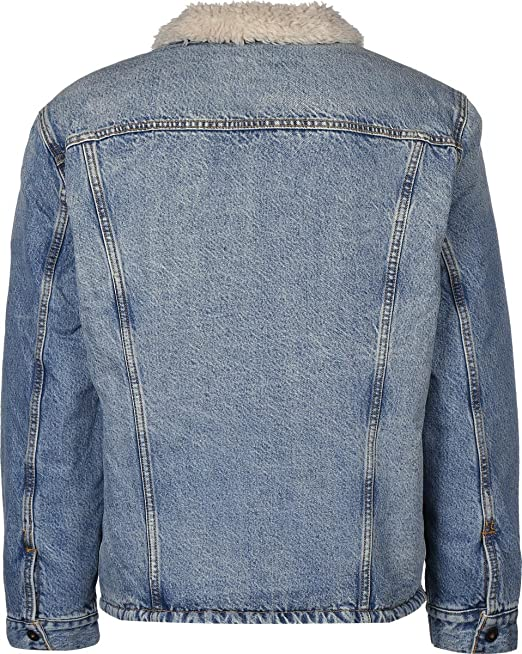 Levis Skate Sherpa Trucker Denim Jacket. Kezar.: Amazon.es ...
