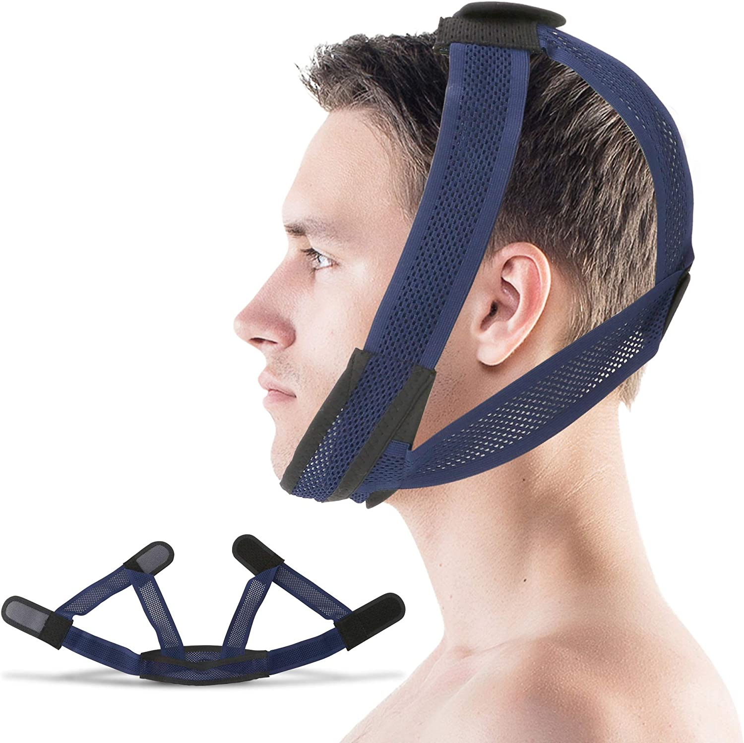Supotto Belt Chin Strap for Mouth Breather L size| Portable Anti-Snore Sleeping Device | Sleep Care & Snoring Accessories | Quiet Breathing & Jaw Aid Equipment: Health & Personal Care