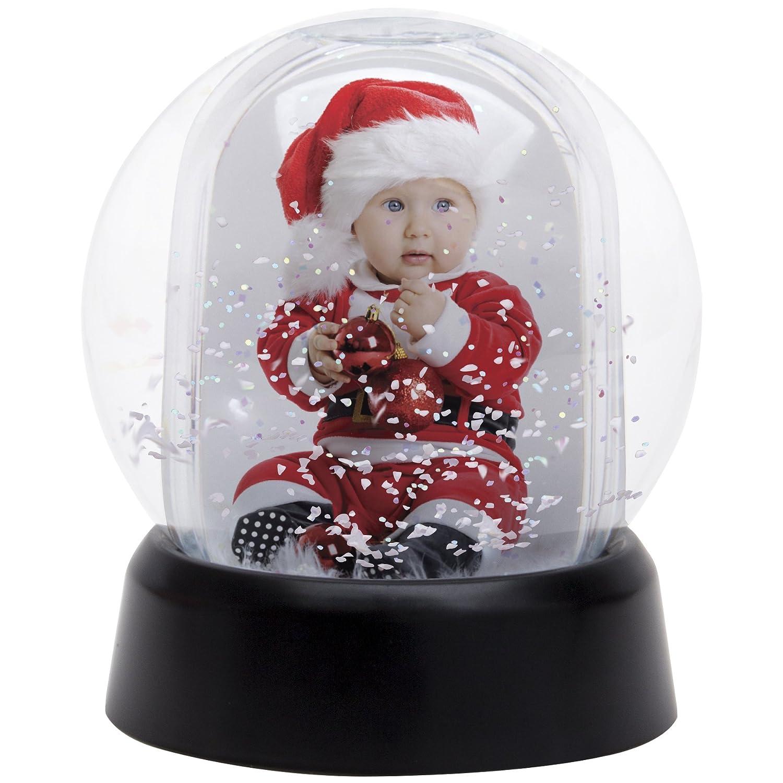 Black Base Mini Photo Snow Globe