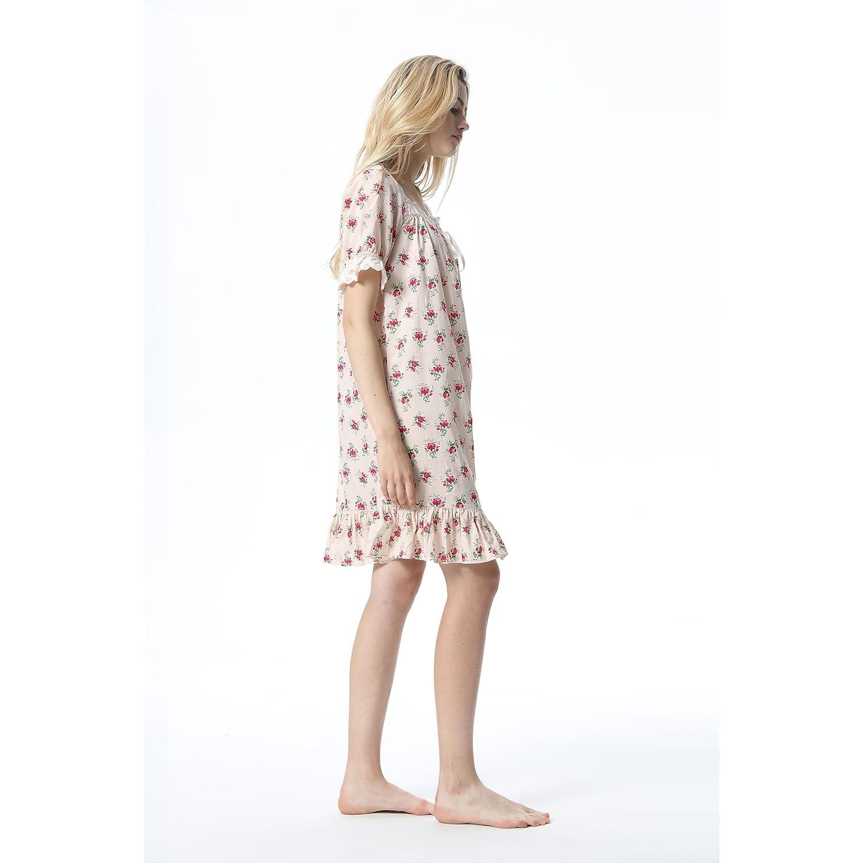 YAN Albornoz Dormir de Lujo Vestido de Dormir Albornoz de Algodón de Manga Corta para Mujeres Vestido de Verano de Pijamas de Primavera y Verano Vestido de Pareja (Size : XL) 6dd4fb