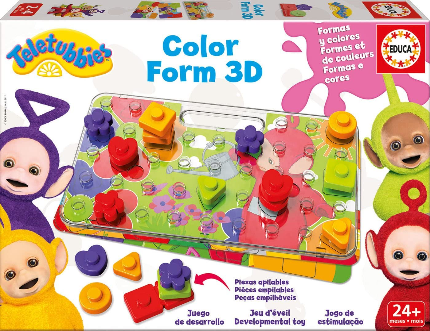 Teletubbies - Color Form 3D, Juego de Mesa (Educa Borrás 17062): Amazon.es: Juguetes y juegos