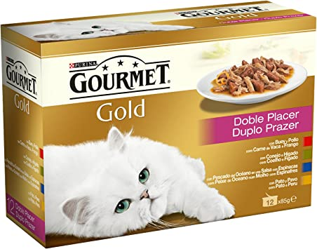 Gourmet - Gold Doble Placer Pack Surtido 12 x 85 g Alimento húmedo ...