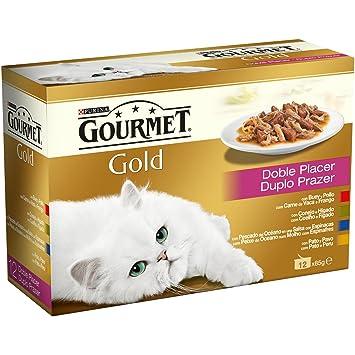 Gourmet - Gold Doble Placer Pack Surtido 12 x 85 g Alimento húmedo para gatos - Total: 1020 g