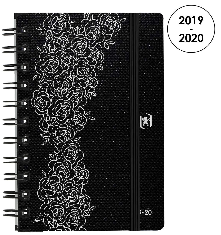 Oxford So Chic agenda escolar (años 2017 – 2018 1 día por página 352 páginas 12 x 18 cm negro Roses