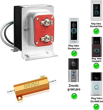 Fcho Doorbell Transformer 16v 30va Hardwired Door Chime Transformer Fit For Ring Video Pro Zmodo Smart Greet Wifi Skybell Doorbell Amazon Co Uk Diy Tools