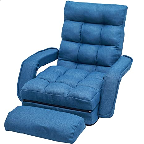 Amazon.com: Sofá plegable con silla acolchada ajustable para ...
