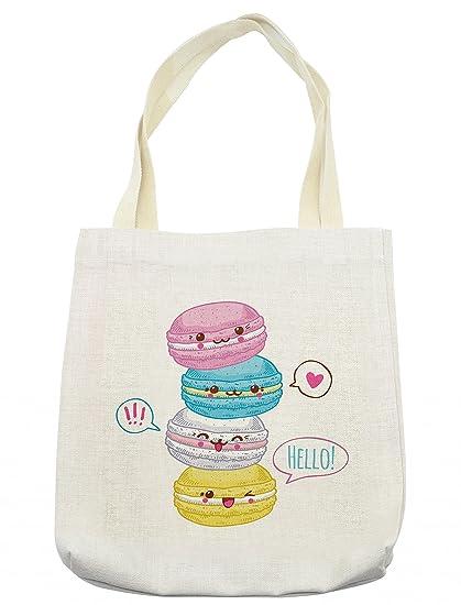 Bolsa de Kawaii Lunarable, dulce macarons apilado, coloridas ...