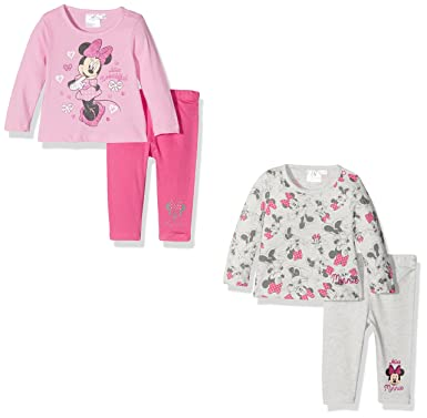 578dd15ae9167 FABTASTICS Minnie Mouse - Ensemble de Pyjama - lot de 2 - Bébé Fille -  Multicolore