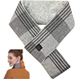 Electric Neck Heating Pad Scarf, Rechargeable heated scarf with 5000 mAh Power Bank for Women and Men, 3 Levels Heating…