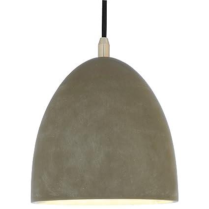 Rivet concrete dome pendant light 30 h concrete and metal rivet concrete dome pendant light 30quot h aloadofball Choice Image