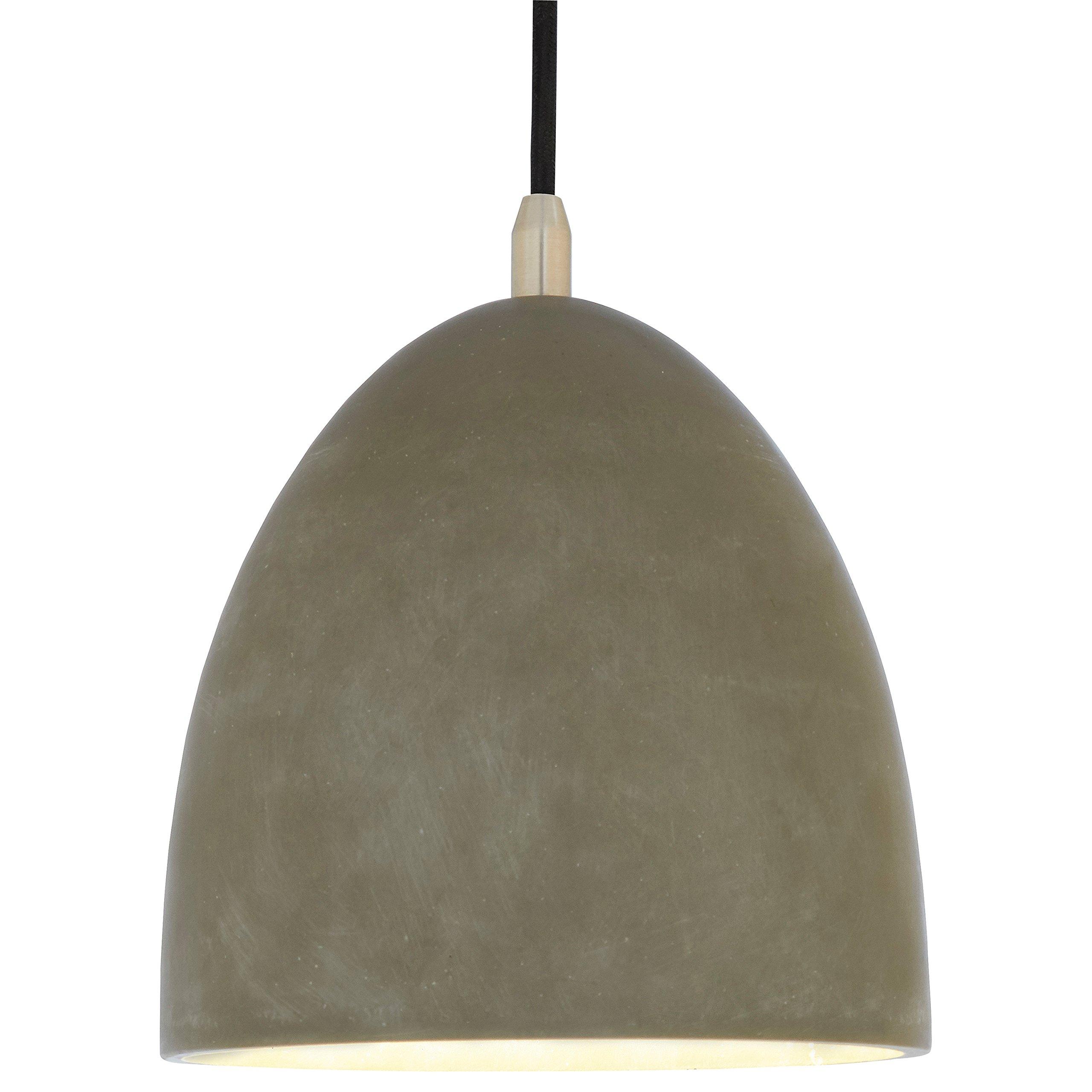 Rivet Concrete Dome Pendant Light, 30''H, Concrete and Metal