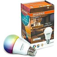 SYLVANIA SMART+ Bluetooth a todo color, Juego A19 de colores para el hogar, Adjustable White and Full Color