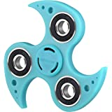HITASION Hand Spinner Fidget Toys for Kids Adults EDC ADHD Focus Sensory Ultra Durable High Speed 1-2 Min Smooth Spin (T-Blue)