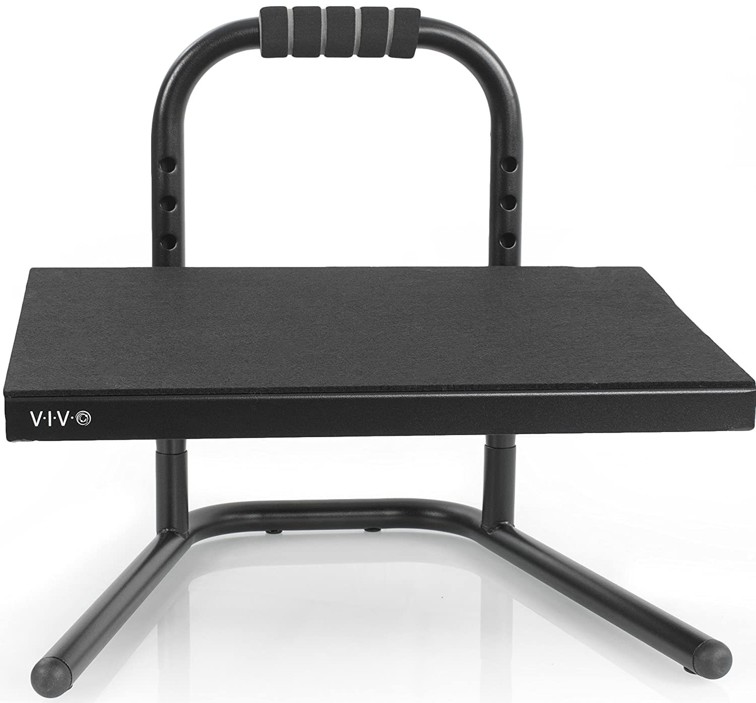 VIVO Black Ergonomic Height Adjustable Standing Foot Rest Relief Platform for Standing Desk (STAND-FT01)