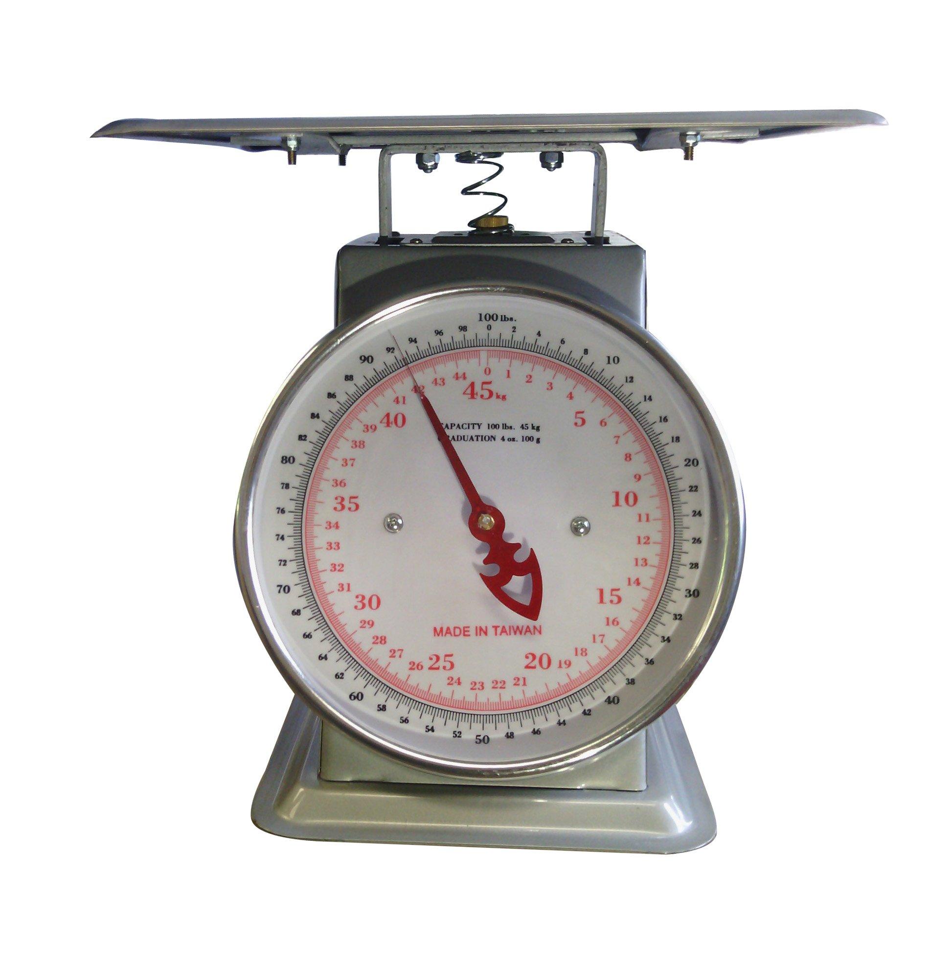 Zenport Accuzen AZD100 Platform Mechanical Dial Scale, 100-Pound
