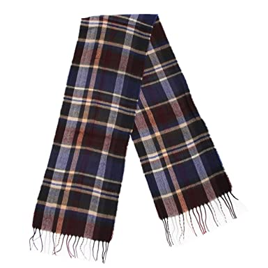 Textiles Universels Écharpe à motif écossais - Homme (180cm x 29cm) (Bleu  marine fa46dc27a5b