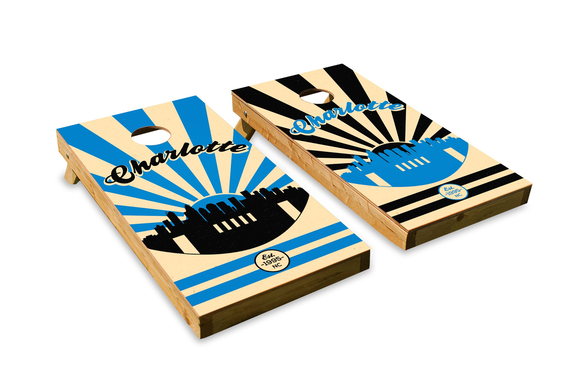 Carolina Football - Cornhole Crew - ACA Regulation Size Cornhole Board Set