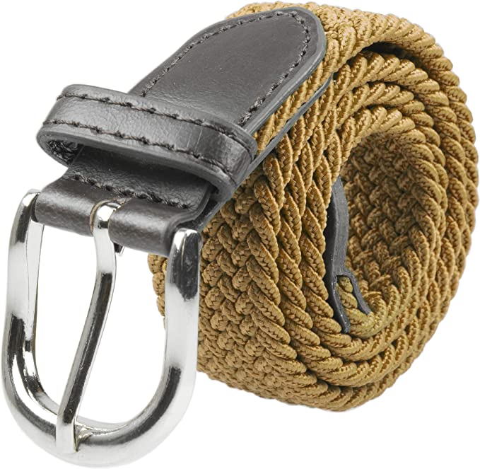 Gelante Childrens Canvas Elastic Fabric Woven Stretch Braided Belts