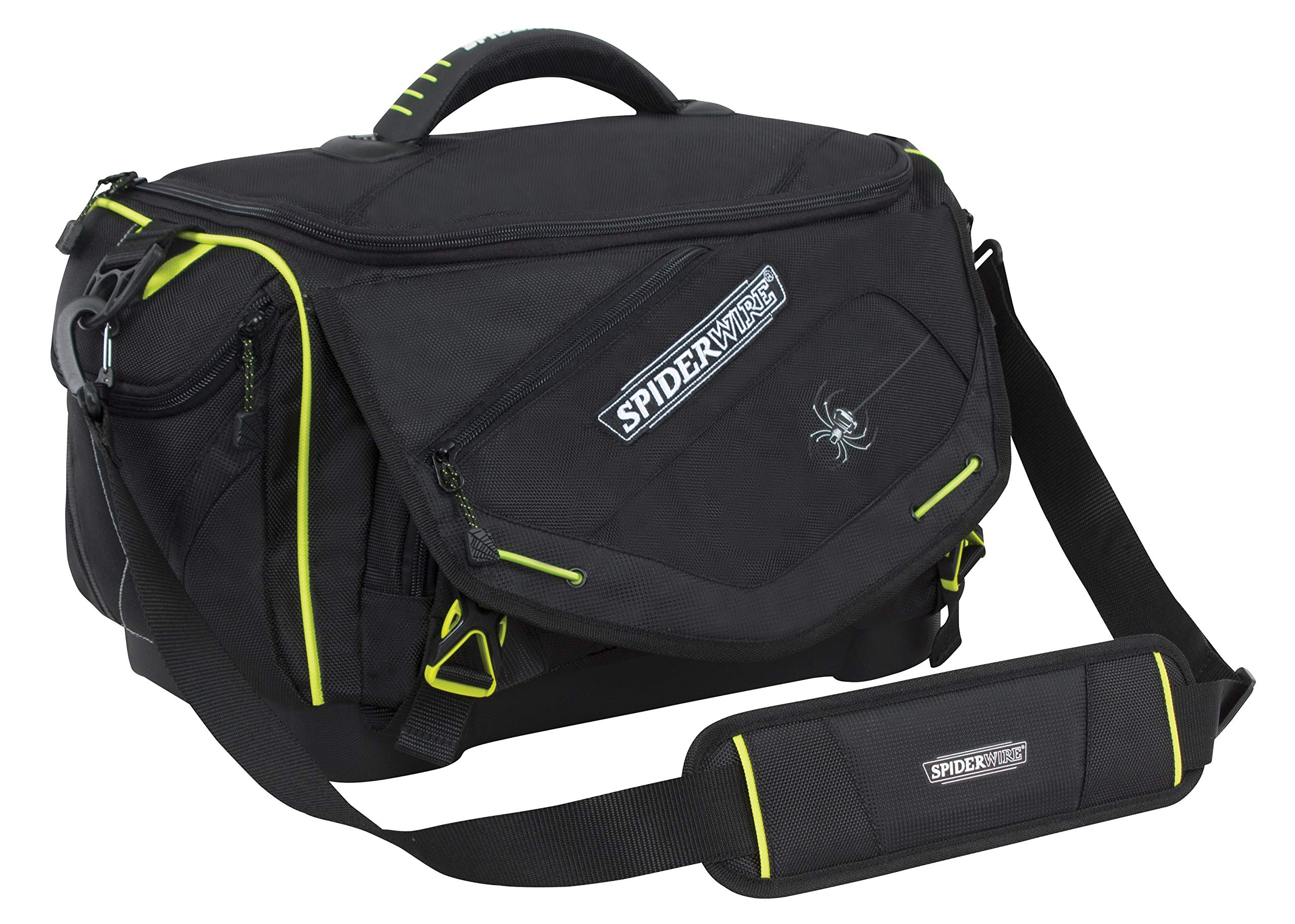 Spiderwire Wolf Tackle Bag, 27.6-Liter, Black