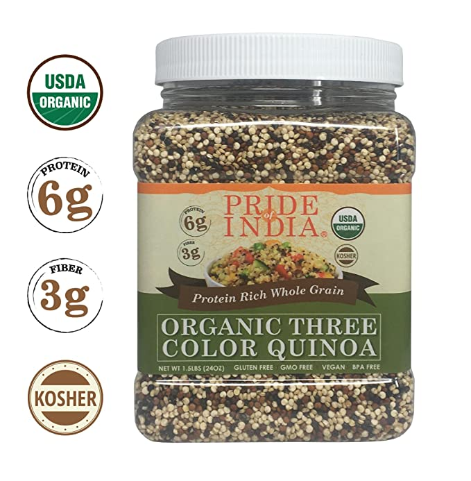 Pride Of India orgánica Tres proteína Colors Quinoa grano entero ...