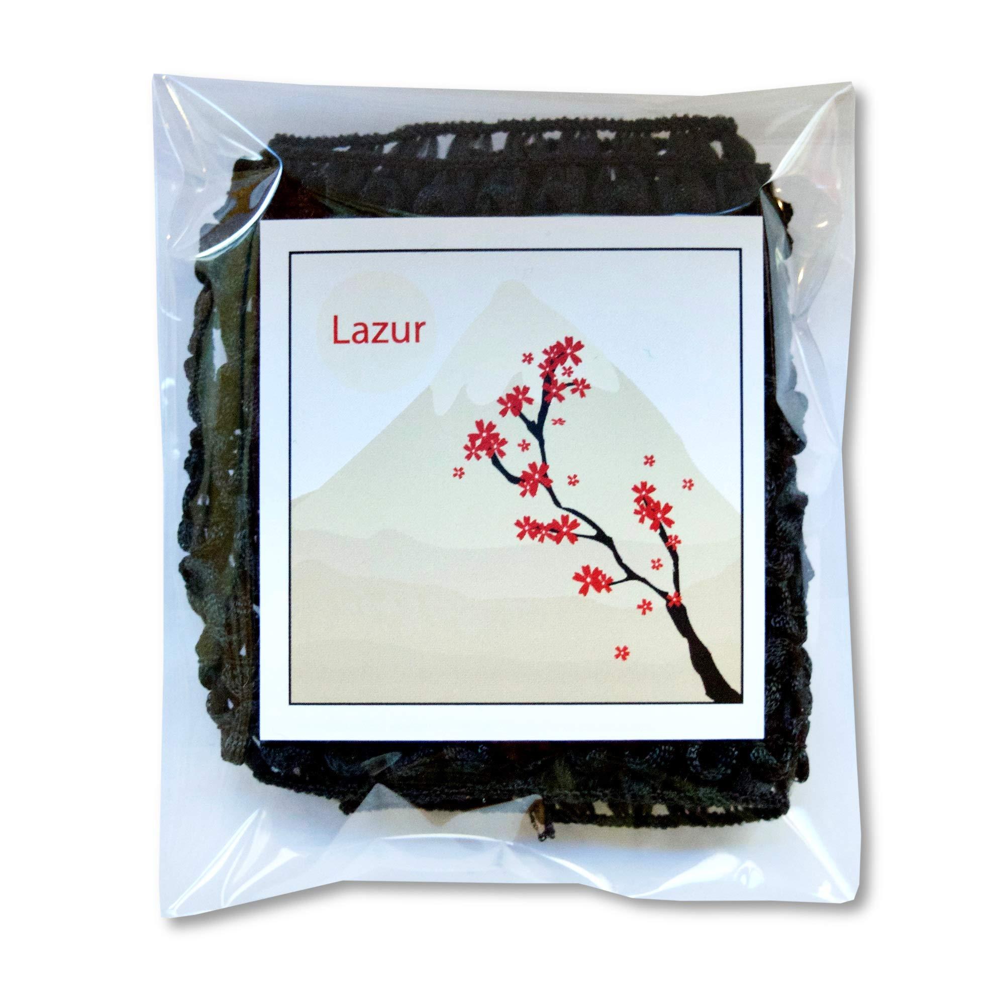 Kao MEGURISM Health Care Steam Warm Eye Mask, Made in Japan, Lavender Sage 12 Sheets and Lazur hair band, Black