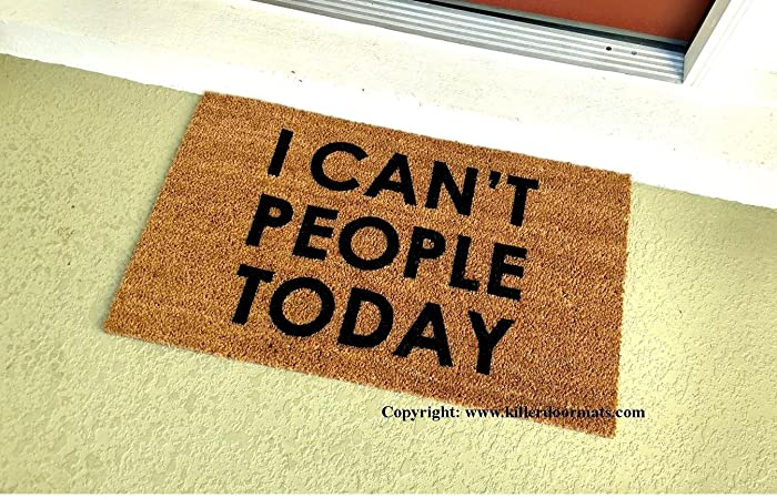 I Can\u0027t People Today Funny Doormat Size Small - Welcome Mat - Doormat & Amazon.com: I Can\u0027t People Today Funny Doormat Size Small ...