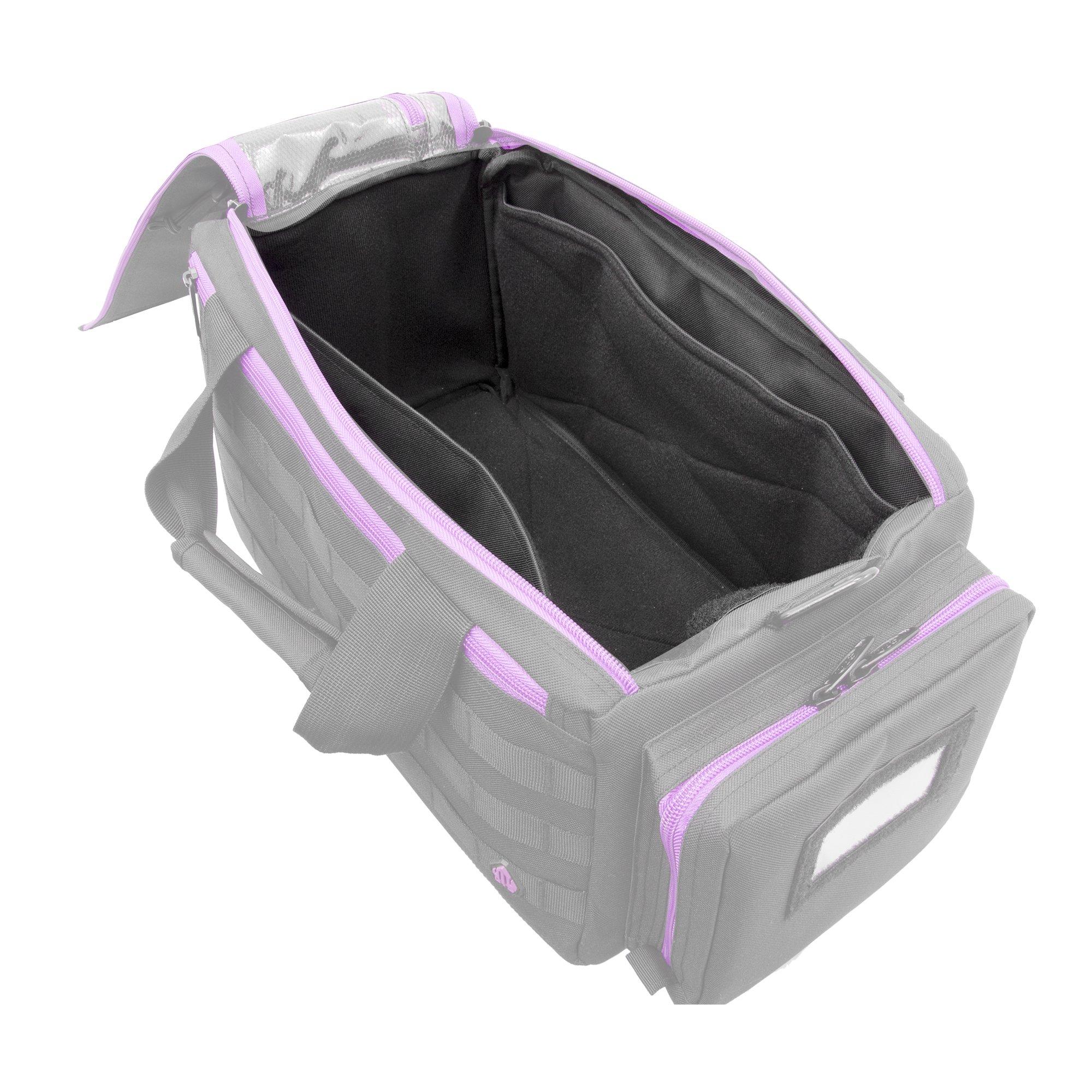 UTG All in One Range/Utility Go Bag, Black/Violet, 21'' x 10'' x 9'' by UTG (Image #8)