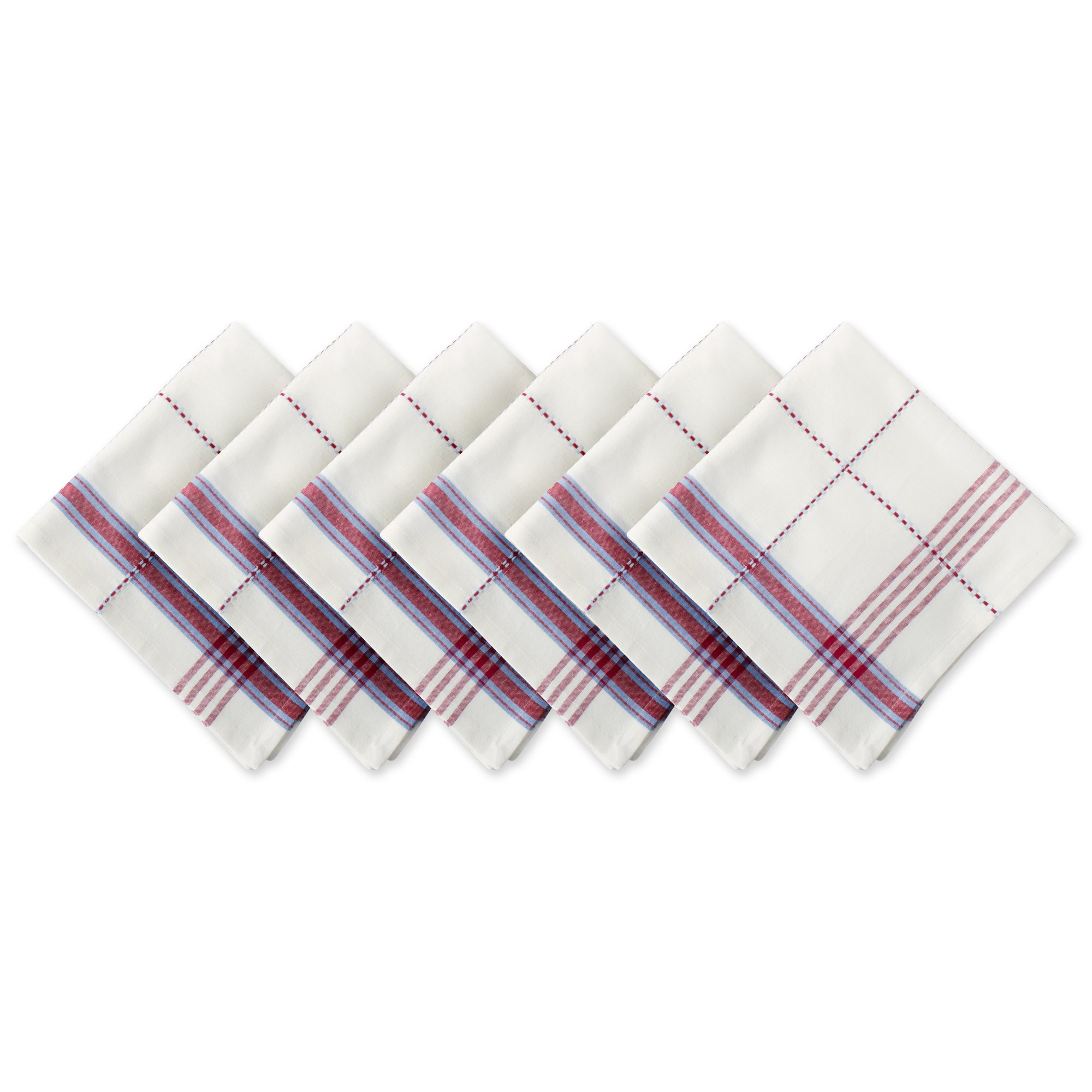 DII 100% Cotton, Oversized Basic Everyday 20x20'' Napkin Set of 6, Coopeville Plaid by DII