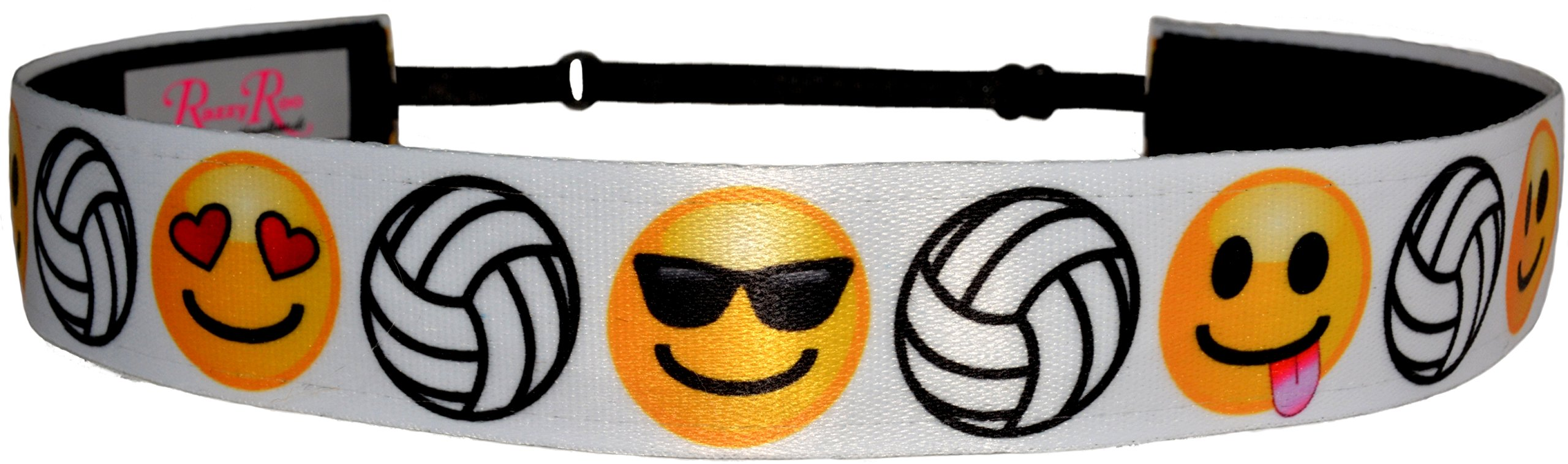 Non Slip Adjustable Headband ''Emoji Volleyball'' Smiley Faces Girls Volleyball Headband by RazzyRoo Headbands by RazzyRoo Headbands (Image #2)