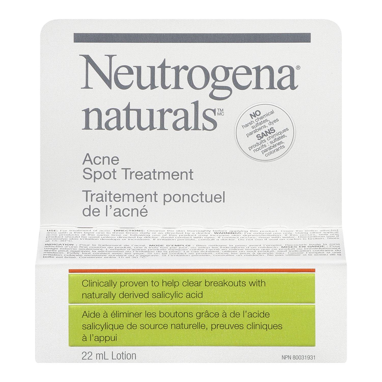 Neutrogena Naturals Acne Spot Treatment Gel for Breakouts, with Salicylic Acid, 22ml Neutrogena Acne