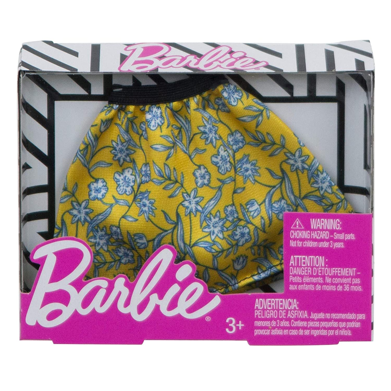 Multicolor Mattel FXH86 Barbie Floral Skater Skirt Fashion