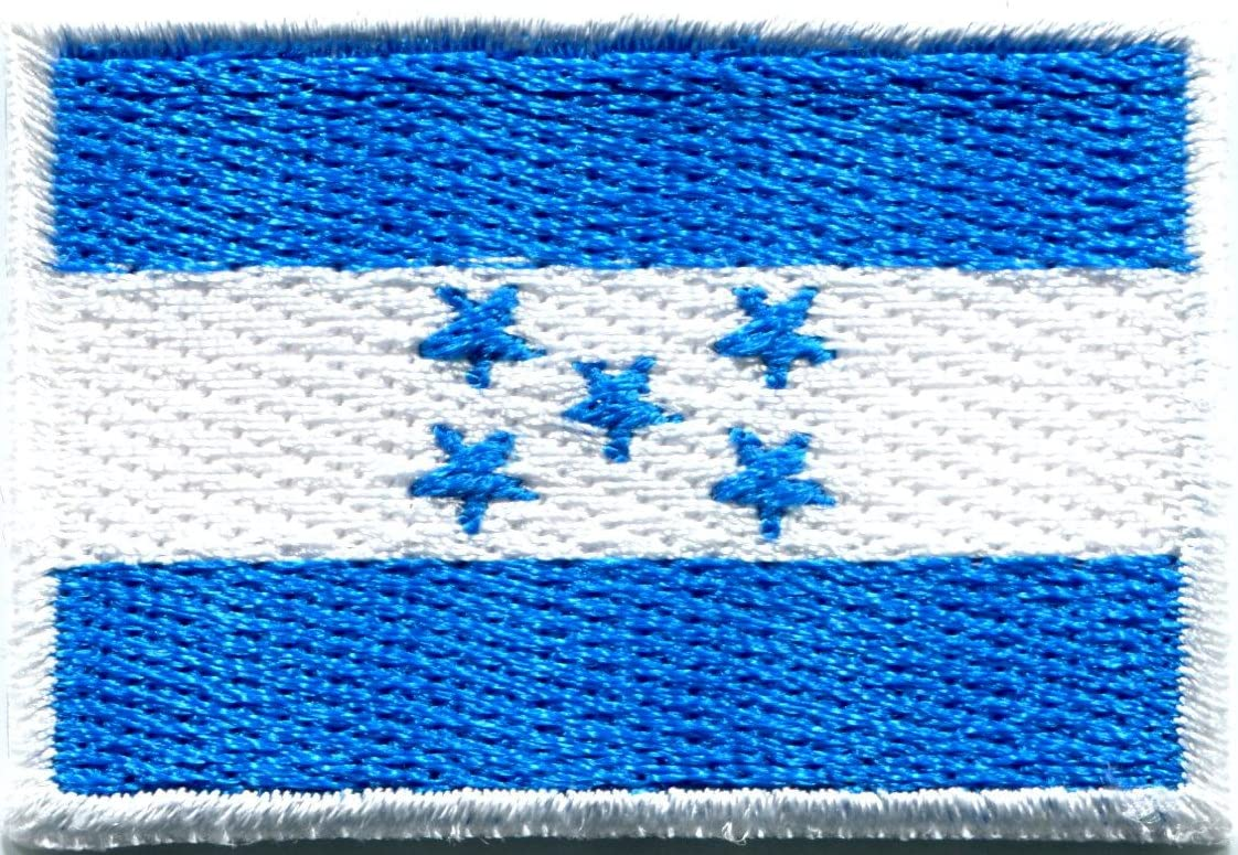 HONDURAS COUNTRY FLAG SMALL IRON ON PATCH CREST BADGE .. NEW