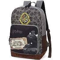 Mochila escolar feminina Harry Potter luxcel 45836 cinza