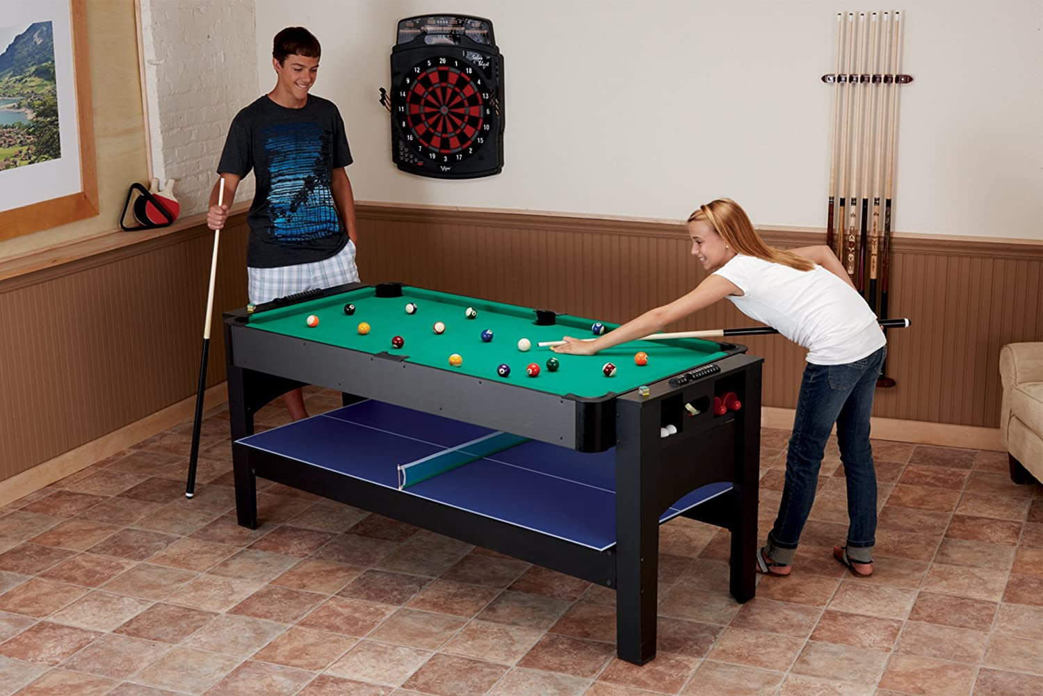Beautiful Amazon.com : Fat Cat Original 3 In 1, 6 Foot Flip Game Table (Air Hockey,  Billiards And Table Tennis) : Combination Game Tables : Sports U0026 Outdoors