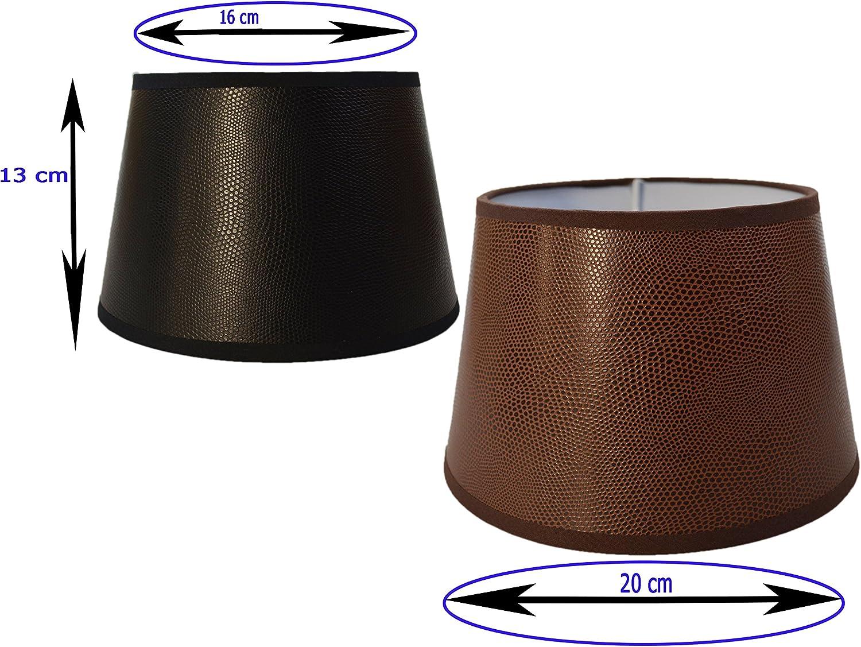 Wohnraumleuchten LED Tischlampe klassisch mit STOFF Lampenschirm rund Ø 20cm
