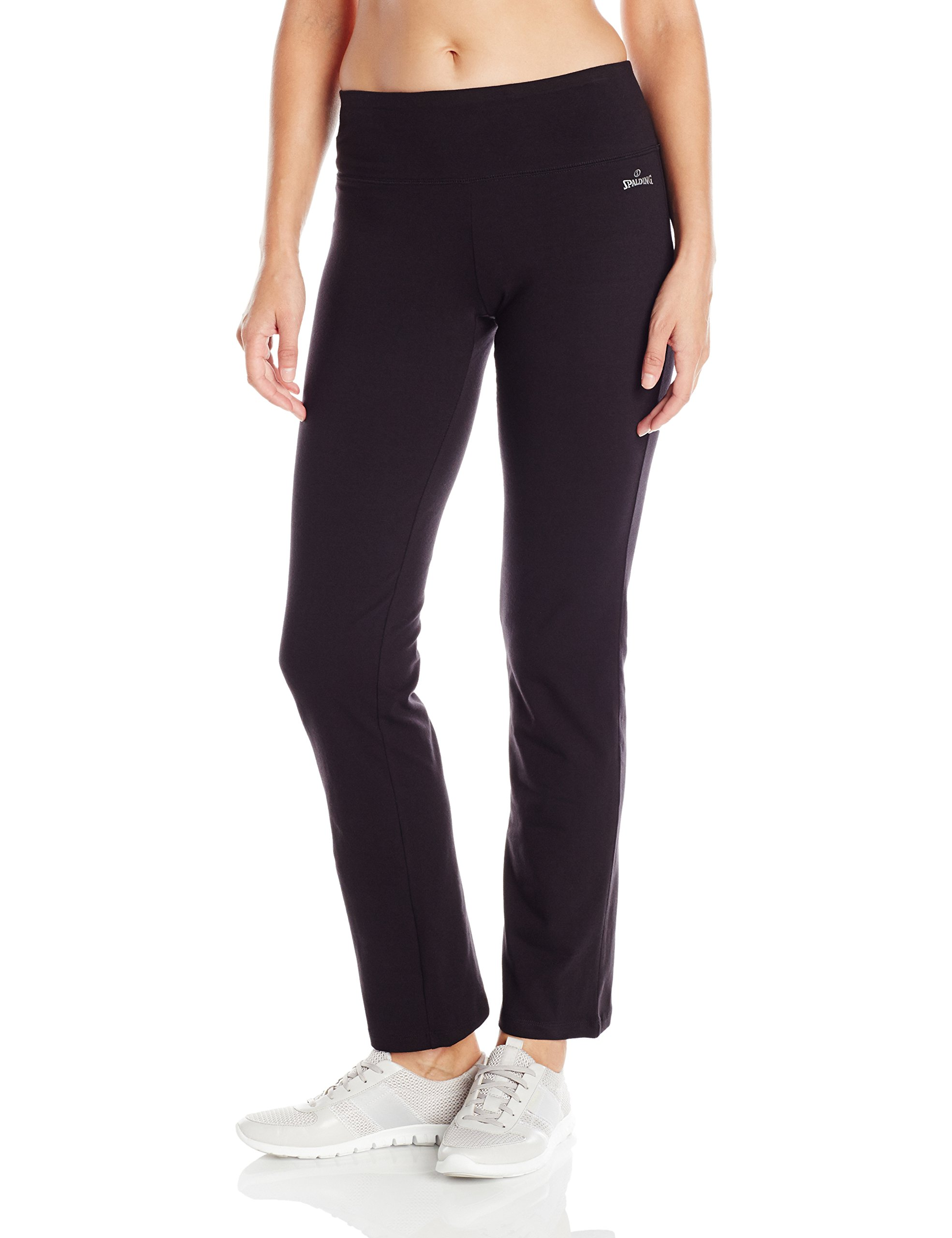 Spalding Women's Bootleg Pant, Deep Black, Large