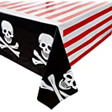 Juvale Pirate Party Plastic Table Cover (54 x 108 in, 3 Pack)