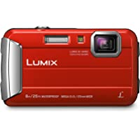 PANASONIC LUMIX Waterproof Digital Camera Underwater Camcorder with Optical Image Stabilizer, Time Lapse, Torch Light and 220MB Built-In Memory - DMC-TS30R (Red)